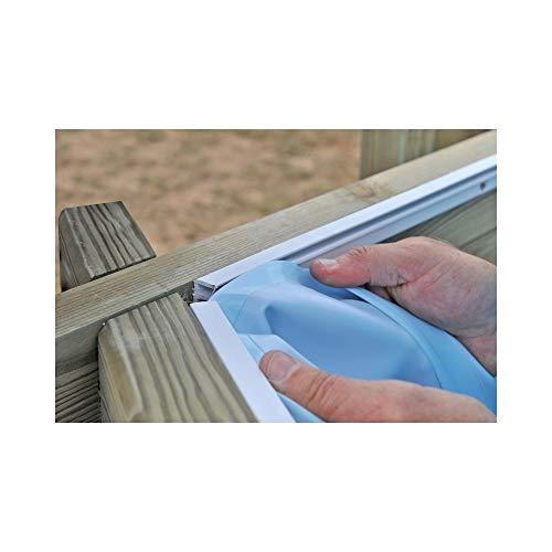GRE F790053C - Liner para piscinas de madera ovaladas Azul 620x395x127cm espesor...