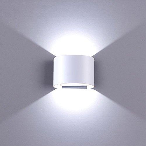 BELLALICHT LED Wandleuchte Innen Außen - 12W Aluminium Up Down Wandlampe mit Einstellbar Abstrahlwinkel Wandlicht IP65 Wasserdicht Bad Flur Kinderzimmer Treppenhaus Wohnzimmer Schlafzimmer Kaltweiss