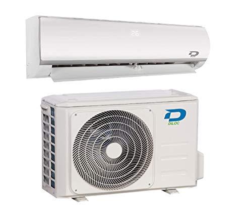 Diloc FROZEN Condizionatore 24000 Btu R32, Climatizzatore Inverter 7,2 Kw, D.FROZEN24+D.FROZEN124