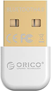 ORICO USB Adaptador Bluetooth 4.0 Adaptador Bluetooth USB Plug /& Play Compatible Windows XP//Vista// 7//8//10,Blanco
