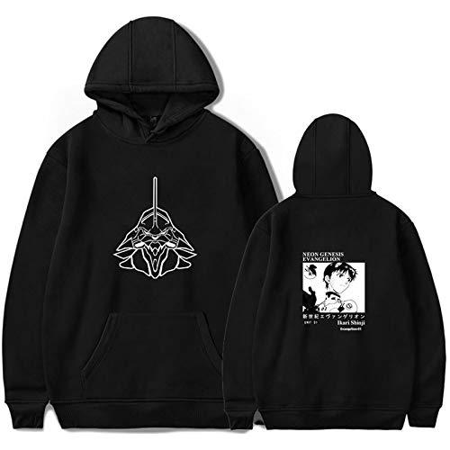 Neon Genesis Evangelion: Rei Ayanami Cute Print Hoodie Unisex Anime Sweater Streetwear Hip Hop Sweater Fun Fashion Sexy Student Teen Couple Manga Top (XS-3XL)
