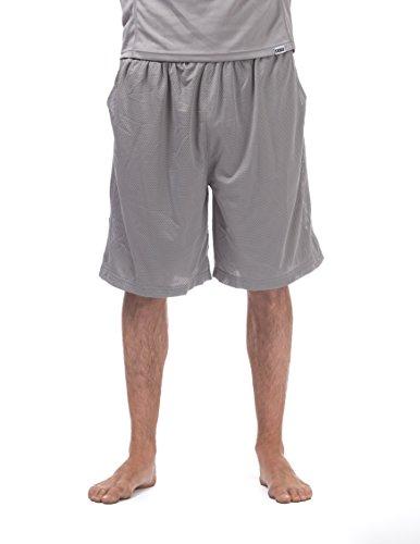 Pro Club Men's Comfort Mesh Athletic Shorts, 3X-Large, Gray