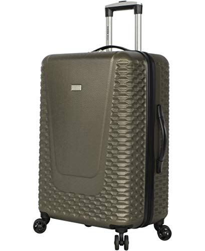 Steve Madden Hard Case 24' Spinner Luggage (24in, Antics Olive)
