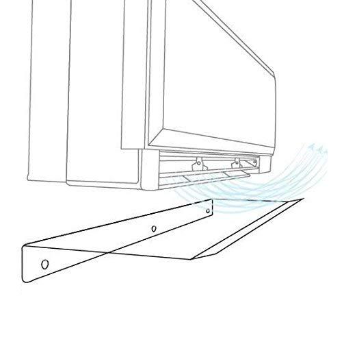 Deflettore in Plexiglass Trasparente per Condizionatori - Deviazione per Aria Condizionata da interni Soggiorno Camera Ufficio