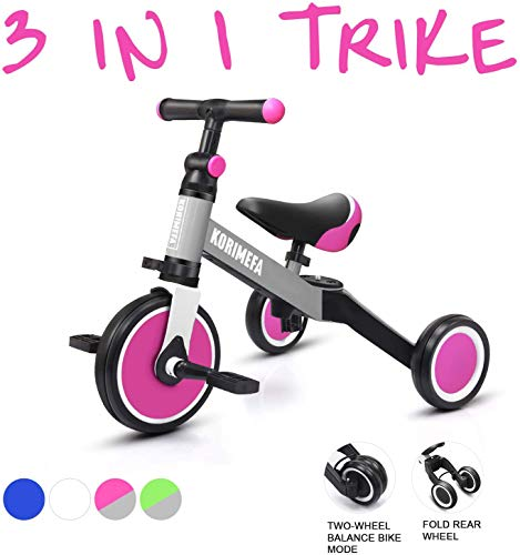 KORIMEFA 3 en 1 Vélo Draisienne Tricycle Évolutif pour...