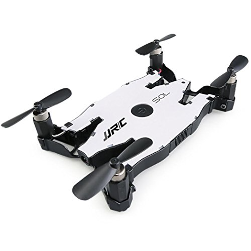 Hot Sales Memela(TM)JJRC H49 Selfie Drone FPV Wifi Altitude Hold Auto Foldable 2.4G 4-Channel 6Axis with HD 720P Camera Headless Mode Quadcopter Metal White