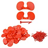 Bluecell World 100 Pieces Chicken Goggles Pheasant Poultry Blinders Spectacles Anti-Pecking Eye Glasses for Chickens Poultry Blinders Anti-Pecking Pheasant Eye Glasses Eye Protector