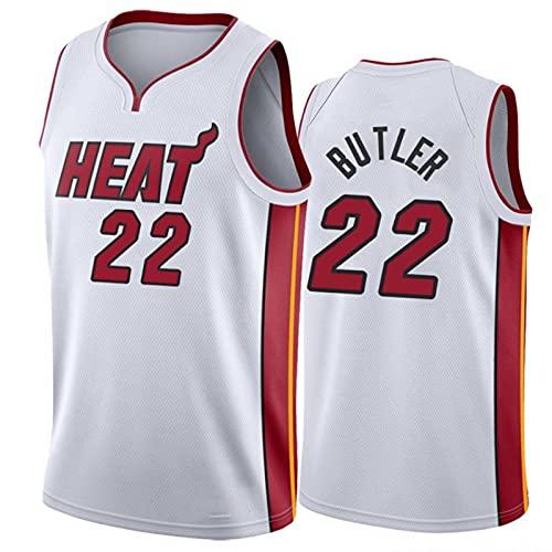 YXST Camiseta de Baloncesto NBA Equipo de Fuego Caliente # 22 Malla Bordada de PoliéSter Top,Secado RáPido Y Transpirable para JóVenes Sudadera,6,M