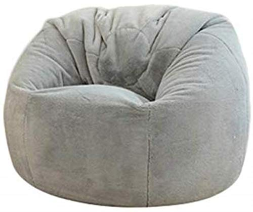 Canapé lit LHY- Sac de soja Chaise Sofa Solide Couleur Simple Soft Design Chaud Siège inclinable extérieur Chaise Longue Chaise Longue Doux (Color : Gray)