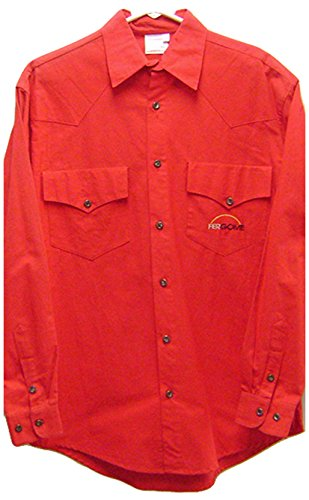 Modestone Men's Long Sleeve Fitted Western Camicia Cowboy Fergome 38 Red