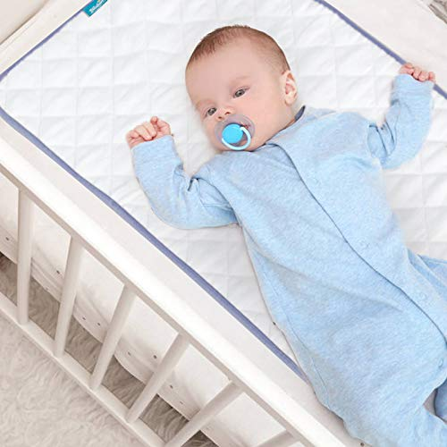 Baby Waterproof Pad Washable, 36' x 18' Non-Slip Wateproof Protector for Baby Cradle/Bassinet Mattress Pad,4 Layers Incontinence Bed Pad for Children Adults, Pets Training Pee Pad