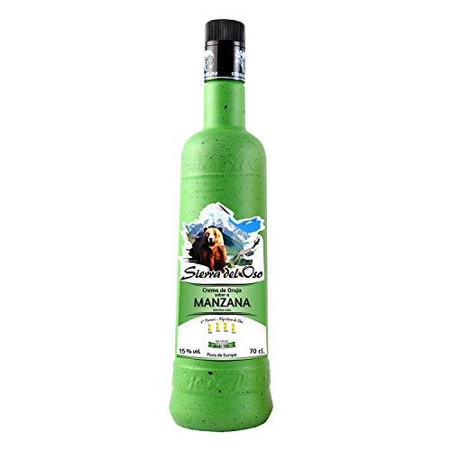 Crema de Orujo con Manzana- Sierra del Oso, 3 botellas, Verde Manzana