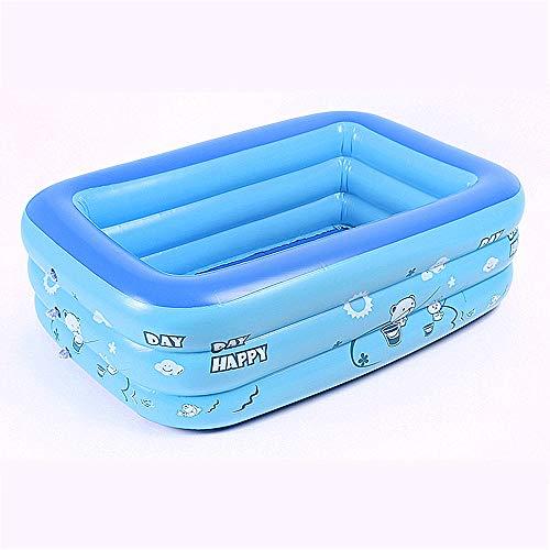Mitrc Aufblasbarer Swimmingpool der Kinder, tragbare aufblasbare Kinderpool-PVC-materielle Badewanne für im Freienstrand-Sommerfeste blau,120cm