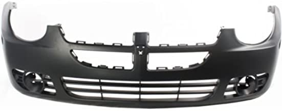 Perfect Fit Group D010317P - Neon Front Bumper Cover, Primed, W/ Fog Lamp Hole, W/O Srt-4 Model