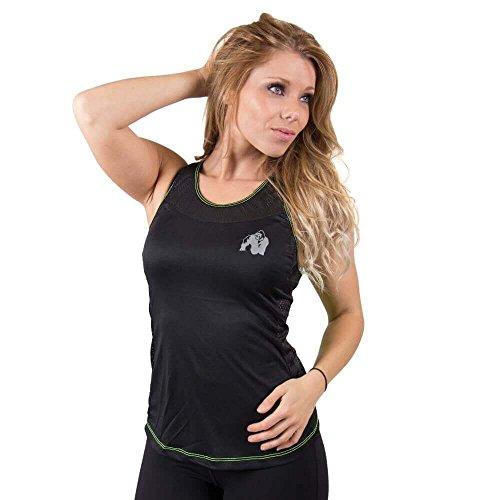 GORILLA WEAR Womens Marianna Tank Top - schwarz/gelb - Bodybuilding und Fitness Tanktop für Damen, S
