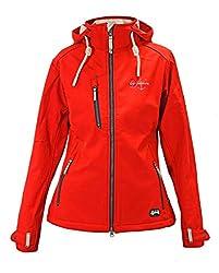 Dry Fashion Damen Softshelljacke Poel Funktionsjacke gefüttert, Farbe:rot, Größe:48