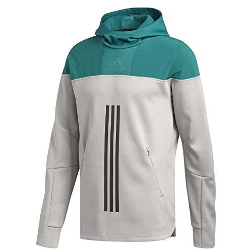 adidas Herren Athletics Id Amp Hoodie, Herren, Kapuzenpullover, Athletics Id Amp Hoodie, Grau/Grün, Small