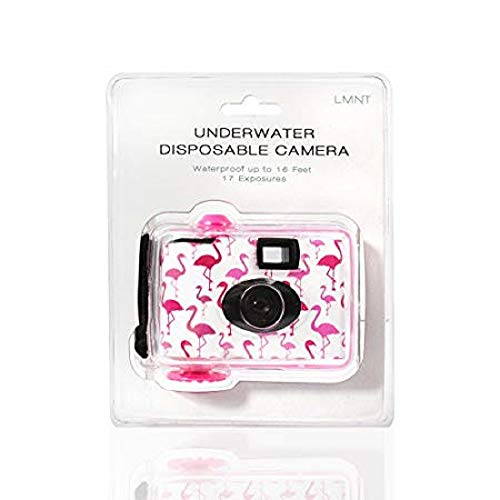 LMNT UNDERWATER DISPOSABLE CAMERA Waterproof 16 Feet 17 Exposure Flamingo 35mm