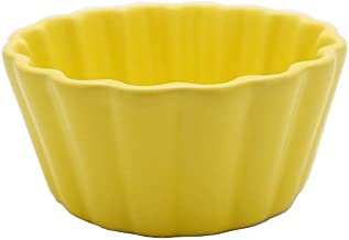 GYJ Nordic Matte Jelly Pudding Snack Bowl Baking Baking Cup Baking Cup Baking Bowl Mousse Cup Fashion (Color : Yellow)
