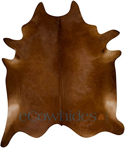 eCowhides Dark Brown Brazilian Cowhide Area Rug, Cowskin Leather Hide for...