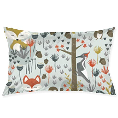 okstore1988 Pillowcase Rustic Woodland Animals Pillowcases Decorative Pillow Covers Soft and Cozy, Standard Size 20'x30' with Hidden Zipper Cushion Covers