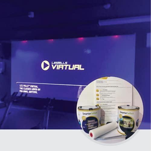 Pintura Proyector Contraste - 6m² Acabado Gris Oscuro - Home Cinema - Películas y Videojuegos - Proyectores HD y Normales - Valor de Ganancia 0.1