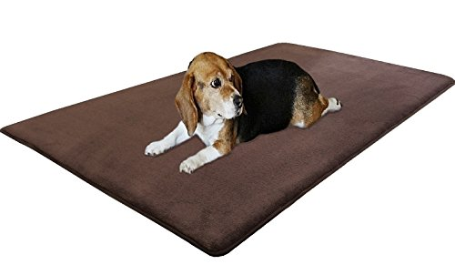 Dogbed4less Jumbo Gel Infused Memory Foam Pet Dog Bed Mat Pillow Mattress Topper 75'X38' Twin Size for Large Pets - Gray Color