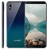 cubot j5 android 9, 5.5 pollici, supporto face id, ram 2gb rom 16gb, la batteria 2800mah, 3g smartphone sfumato