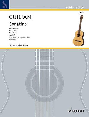 Sonatine C-Dur: op. 73. Gitarre. (Edition Alfonso)