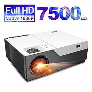 Artlii Stone 7500 Lúmenes, Proyector Full HD 1080P Nativo, Proyector Cine en Casa de 300