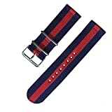 Cinturino cinturino per orologio Galaxy Watch 3 Active2 Active1 S3 cinturino sportivo in nylon (Band Color : 16, Band Width : 20mm)