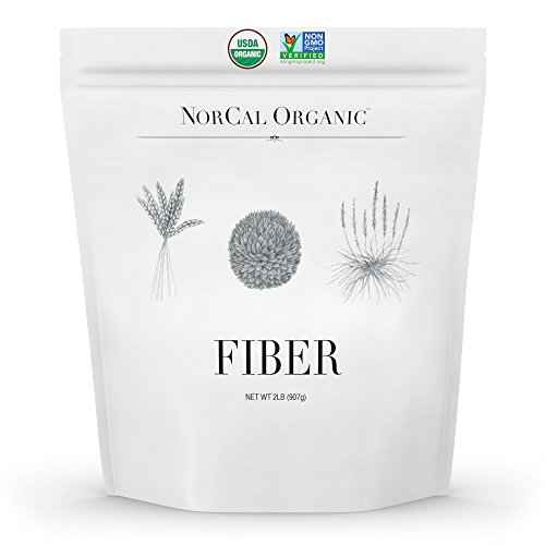 Norcal Organic Fiber 2 lbs | Soluble and Insoluble Fiber Supplement with Prebiotics and Psyllium Husk Powder | Organic, No Soy or Gluten, Non GMO, Source Organic