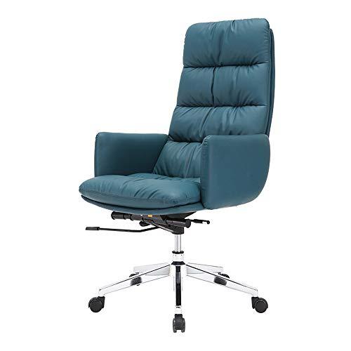 ZHFC - Silla de oficina de piel con respaldo alto, silla de dirección, diseño ergonómico, para dirección o oficina en casa, con soporte inclinable y ajustable a la talla