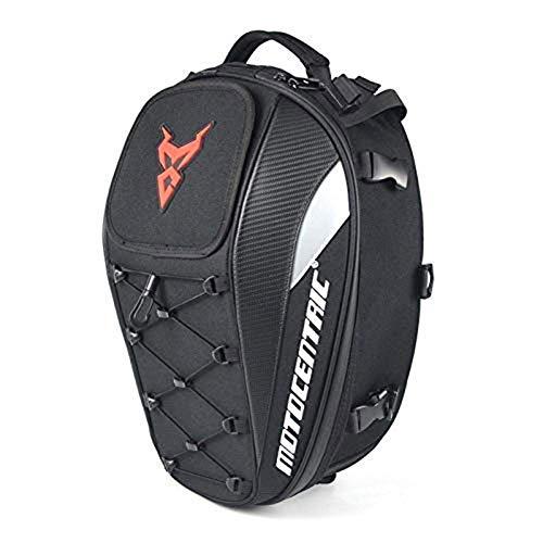 CSPone Motorrad Hecktaschen Wasserdichte Multifunktionale Gepäcktasche Sitztasche fürs Hecktasche Motorrad aus PU-Leder Aufbewahrung für Motorradhelm und Anderes Tasche Motorrad