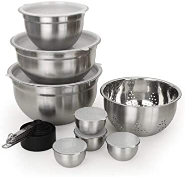 Better Homes Gardens 23 Piece Limited Edition Prep And Store Kitchen Set Stainless Kitchen Dining Amazon Com
