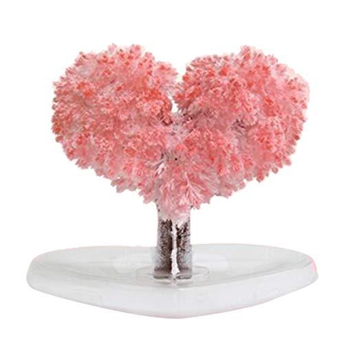 Souarts Arbre Magique Sakura Cerisier Romantique Magique Sapin de Noël en Cristal Arbre en Papier en Fleurs Arbre Magique Noël Arbre Magique Bonsaî Magic Sakura