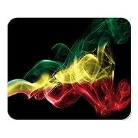 マウスパッドコンピューターメモ帳オフィスラスタエチオピア煙旗抽象書き込み大麻お祝いカントリーホームスクールゲームプレーヤーコンピューターワーカー9.5x7.9インチ