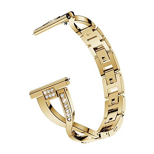 DGDD Correa de 46mm Relojes Metal Mujer - Smart Watch Band Hombre, Reemplazo Correa Reloj Banda Acero Inoxidable Compatible con Samsung Galaxy Watch Active Bracele,Gold 46mm