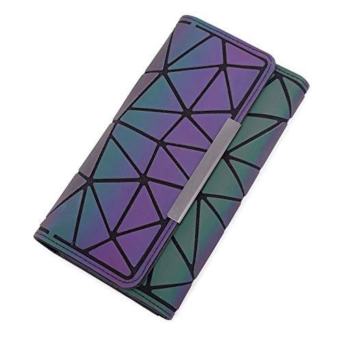 A-hyt Cómodo y cómodo clip de dinero femenino triple cartera delgada para mujeres monederos de mano de carteras de embrague bolsa de viaje fácil de caminar (color: azul1, tamaño: A)