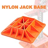 Nylon Trail Jack Base Farmer Lift Jack Base - Increase Recovery Safety in Sand Mud Swamp Wetlands - WLL 8,000 Lbs (Orange, Universal)