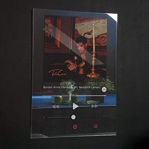Drake - Take Care Acrylic Plaque Modern Poster Spotify/Apple music Unique Gift Idea Transparen Album Cover Home Decor