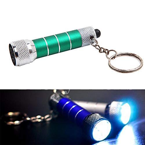 Mini LED porte-clés lampe de poche, métal, Alimenté par batterie lampe de poche pour camping randonnée de chasse, Mini Poche Torche 6 paquets