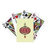 Linterna China Patrón Poker Jugando Tarjeta Mágica Divertida Juego De Tablero