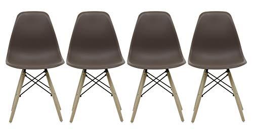 Byhus Set de 4 Sillas Woody Replica Eames-Chocolate