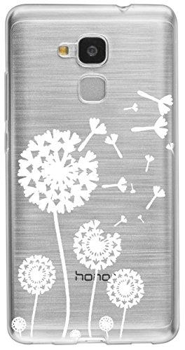 mumbi Hülle kompatibel mit Honor 5C Handy Case Handyhülle mit Motiv Pusteblume, transparent - 3