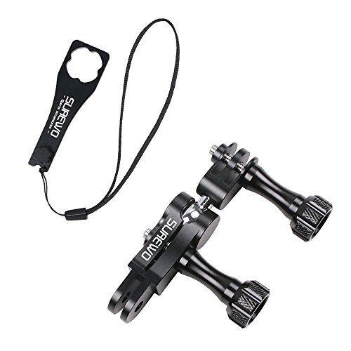 SUREWO Aluminum Ball Joint Mount,Swivel Buckle Mount with Aluminium Wrench Compatible with GoPro Hero 8/7/(2018) 6 5 Black,4 Session,4 Silver,3+,DJI Osmo Action,YI,Campark,AKASO and More