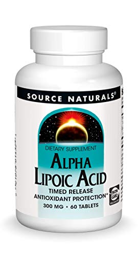 naturals alpha lipoic acids Source Naturals Alpha Lipoic Acid - Supports Healthy Sugar Metabolism, Liver Function & Energy Generation - 60 Timed Release Tablets