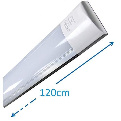(LA) Luminaria LED de Superficie 120cm, 40w, Blanco Frio (6500K). Mas luz que los antiguos fluorescentes. 3300 lumenes reales. (120cm)