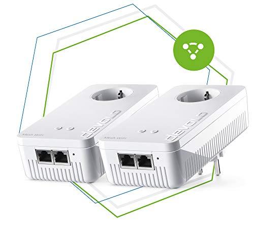 Devolo Mesh WLAN 2 – 1200 WiFi ac Starter Kit: 2 WiFi-Adapter für raumübergreifendes Mesh-WLAN, ideal für Streaming (1200 Mbit/s, Tri-Band-System, 2x2 Gigabit LAN-Anschlüsse)