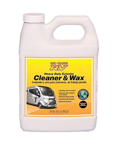 camco rv waxes TR Industries-CW-32 Gel-Gloss RV Cleaner and Wax with Carnauba - 32oz.
